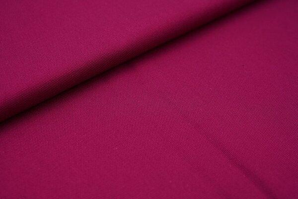 Canvas-Stoff Baumwoll Dekostoff einfarbig uni beere
