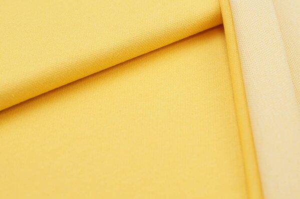 Jacquard-Sweat Ben gelb Uni mit gelber und off white Rückseite