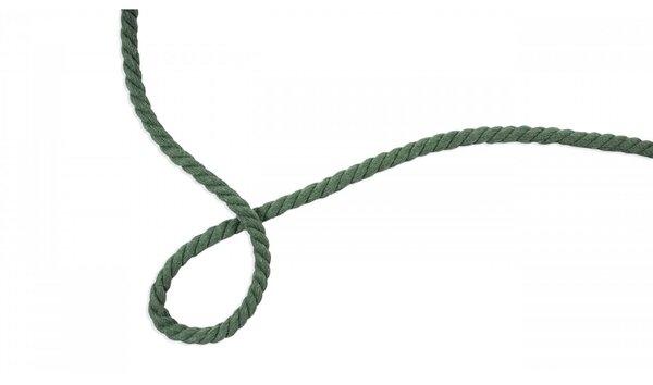 Baumwoll-Kordel gedreht rund uni altmint grün 8 mm breit