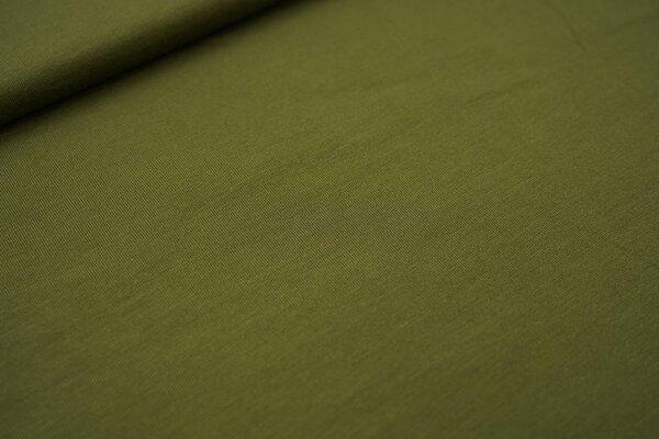 Bambus-Jersey uni olivgrün