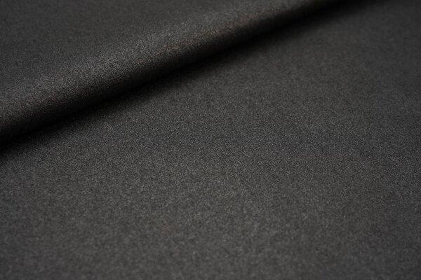 Beschichtete Glitzer Baumwolle uni schwarz