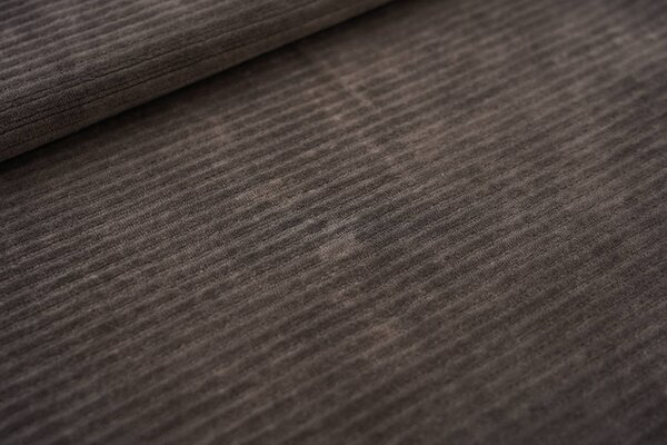 Breitcord Jersey uni dunkel schlammgrau