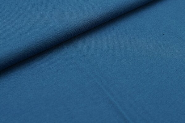 XXL T-Shirt Stoff LILLY uni taubenblau rauchblau