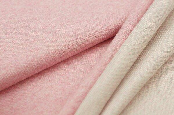 Jacquard-Sweat Mia uni pastell pink Melange