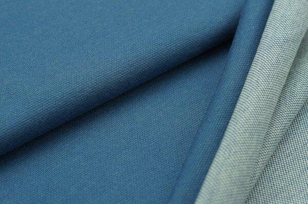 Jacquard-Sweat Ben taupe blau Uni mit taupe blau und off white Rückseite