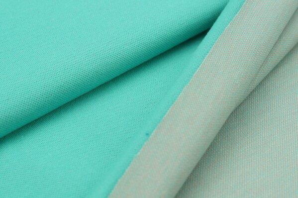Jacquard-Sweat Ben seegrün Uni mit seegrün / koralle und off white Rückseite