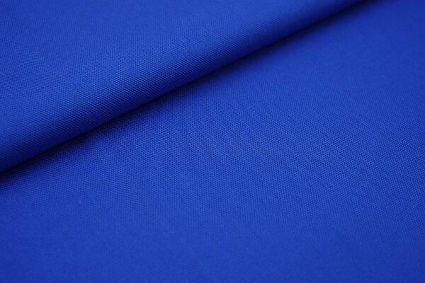 Canvas-Stoff Baumwoll Dekostoff einfarbig uni royalblau