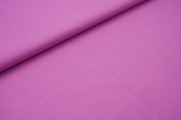 weicher Baumwoll Jersey Uni flieder violett