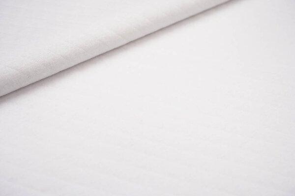 Baumwoll Stepp-Stoff uni mit Rauten Muster weiß