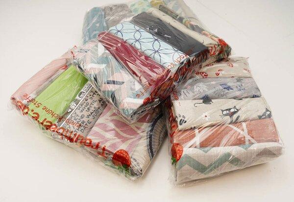 Stoffpaket Dekostoff Mix 3 m verschiedene Farben / Muster gemischt