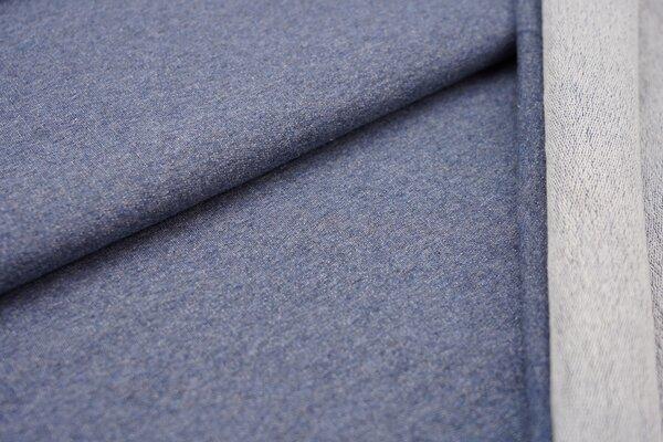 Baumwoll-Sweat uni jeansblau meliert