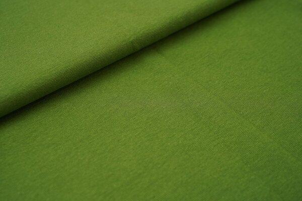 Bündchen glatt uni moosgrün
