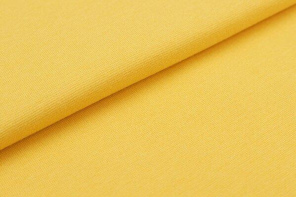 XXL Bündchen Marie glatt Schlauchware gelb