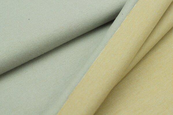Jacquard-Sweat Ben hellgrau Uni mit hellgrau, senf und off white Rückseite