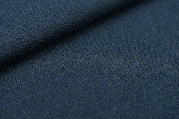 XXL Bündchen Maya glatt Schlauchware navy blau melange
