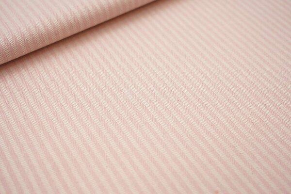 Canvas-Stoff Dekostoff Streifen Linien-Muster rosa / weiß