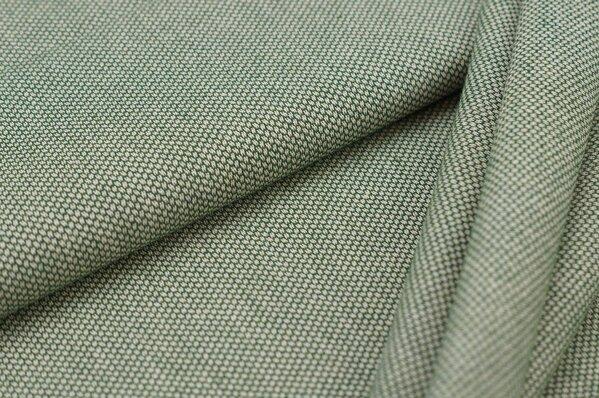 Canvas-Stoff Dekostoff Muster mit kleinen Vierecken grün / weiß