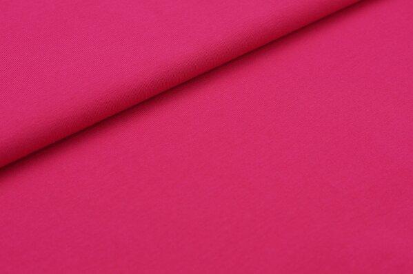 XXL Baumwoll-Jersey Marie uni amarant pink