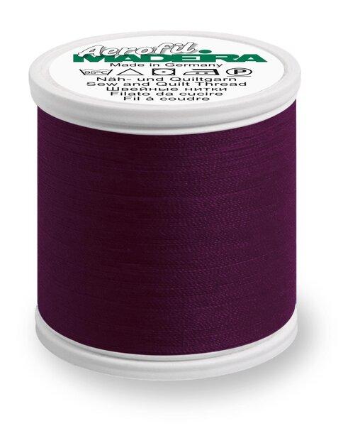 Madeira Nähgarn Aerofil No. 35 extra stark Farbe 9110 bordeaux violett