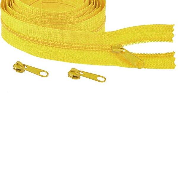 Endlos Spiral Reißverschluss uni gelb 3 mm