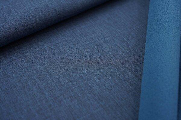 Softshell-Stoff uni jeansblau meliert / blaue Innenseite