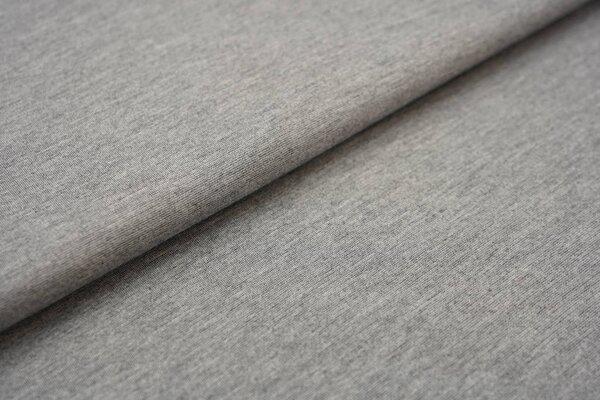 Fester Jerseystoff Romanit Jersey uni grau meliert