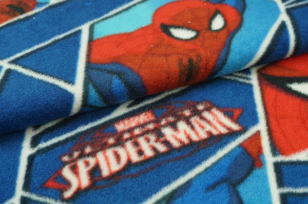 Fleece mit Spidermann rot / blau / weiß