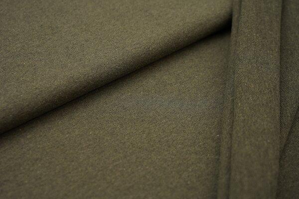Baumwoll-Sweat Recycelt einfarbig uni olivgrün
