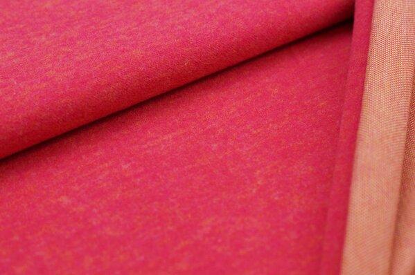 Kuschel Jacquard-Sweat Max Uni amarant pink mit senf