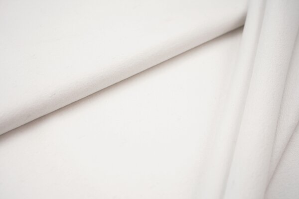 Baumwoll-Sweat Recycelt einfarbig uni weiss meliert