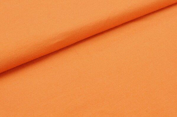 Baumwoll-Jersey uni pastell orange