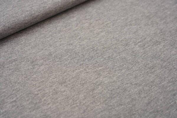 Glattes Glitzer Bündchen grau meliert mit silbernem Glitzer