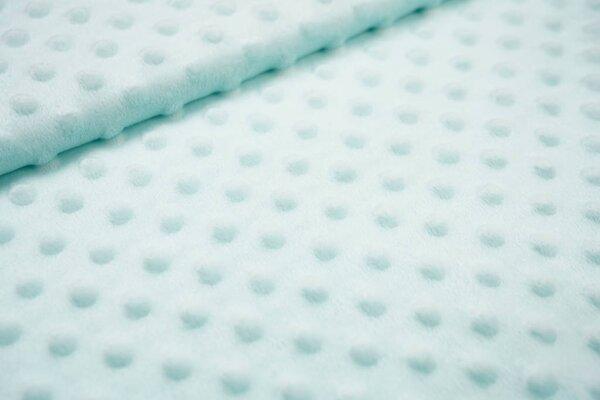 Minky Bubble Fleece-Stoff mit Noppen Punkte uni hell mint