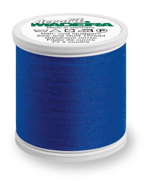 Madeira Nähgarn Aerofil No. 35 extra stark Farbe 9660 blau