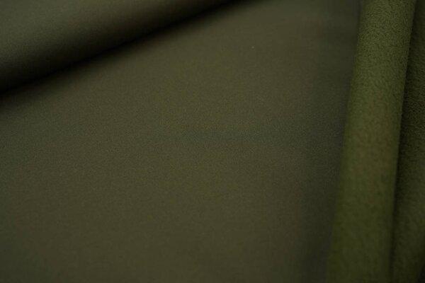 Softshell-Stoff uni khaki grün