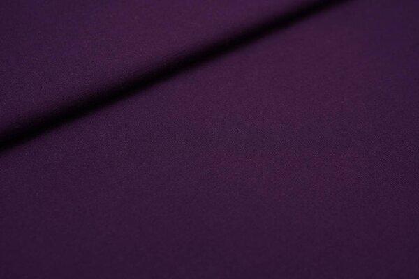 Fester Jerseystoff Romanit Jersey uni aubergine dunkel lila