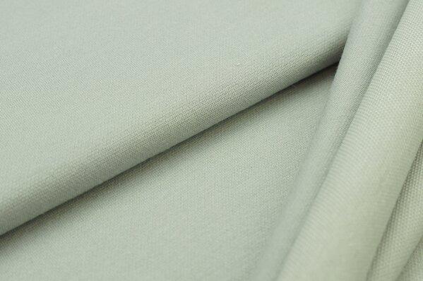 Jacquard-Sweat Ben grau Uni mit grau und off white Rückseite