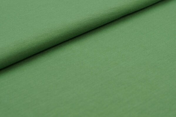 XXL Baumwoll-Jersey Marie uni grün