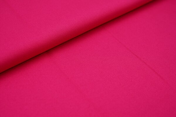 Canvas-Stoff Baumwoll Dekostoff einfarbig uni pink