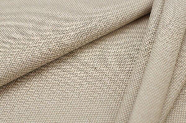 Canvas-Stoff Dekostoff Muster mit kleinen Vierecken beige / weiß