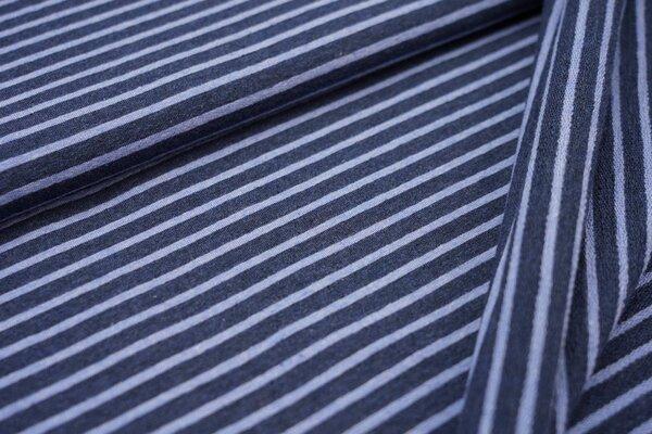 XXL Baumwollsweat Maya Streifen mittel navy blau melange und pastell jeansblau