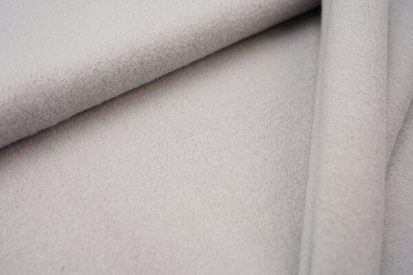 Baumwoll-Fleece uni mittelgrau