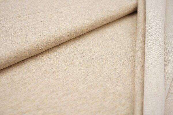 Baumwoll-Sweat uni beige meliert