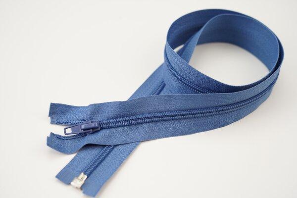 Reißverschluss jeansblau Teilbar 5 mm Spiralschiene Autolock Schieber 40-100cm
