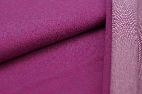 Kuschel Jacquard-Sweat Max Fischgrätenmuster amarant pink / lila