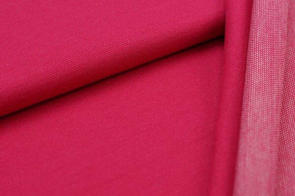 Jacquard-Sweat Ben amarant pink Uni mit amarant pink und off white Rückseite