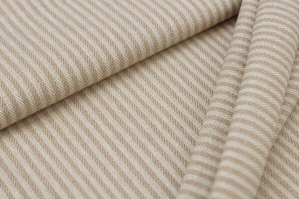 Canvas-Stoff Dekostoff Streifen Linien-Muster beige / weiß