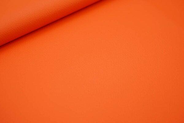 Kunstleder Lederimitat uni orange