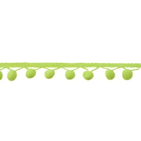 Bommelborte uni neon gelb 24 mm