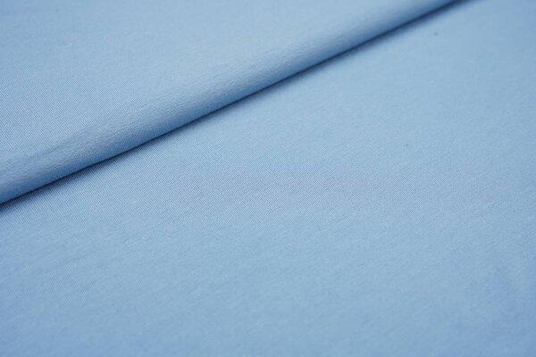 Viskose-Jersey uni hellblau rauchblau